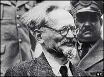 Leon Trotsky arriving in Mexico