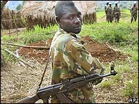 Rebel soldier in DR Congo
