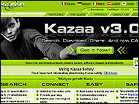 Kazaa website screen grab