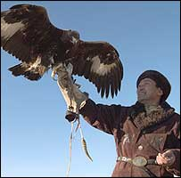 Mukhamed Isabekov and eagle (picture Christopher Herwig)