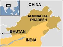 Mapa India y países vecinos