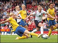 England take on the Swedes