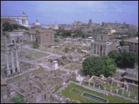 Vista panoramica de restos romanos