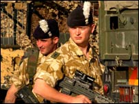 Royal Welch Fusiliers on patrol in Iraq