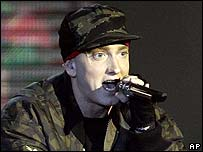 Eminem performs at the MTV Europe music awards