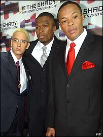 Eminem, 50 Cent and Dr Dre