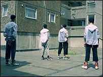 Boys on a housing estate