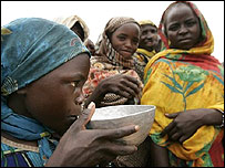 African girls drinking