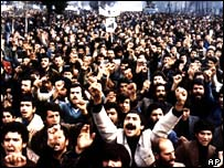 Anti-Shah Pahlevi demonstration in Tehran, December 1978