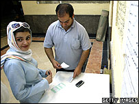 Iranians casting their ballots