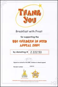 Children in Need certificate