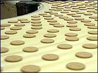 McVitie's biscuits at factory
