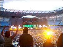 Image of a rock concert in a stadium