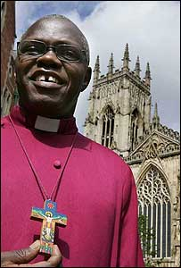 John Sentamu outside York Minster