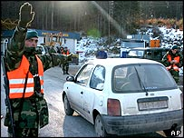 Checkpoint in Bosnian Serb republic