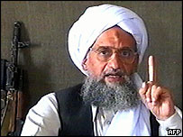 Ayman al-Zawahiri, shown on a video aired by al-Jazeera on 17 June 2005