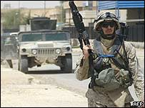 US Marine in Ramadi, Iraq