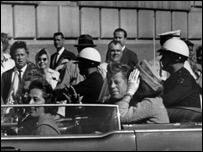 Asesinato de John F. Kennedy en 1963.