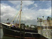 The Ross Tiger trawler at the National Fishing Heritage Centre