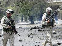 US soldiers in Iraq. Archive picture