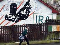 IRA mural on wall