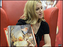 Madonna at a book reading in New York