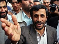 Mahmoud Ahmadinejad campaigns to be president of Iran
