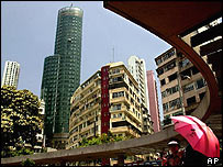 Hong Kong's Happy Valley district