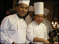 Xiao Jianming with another chef