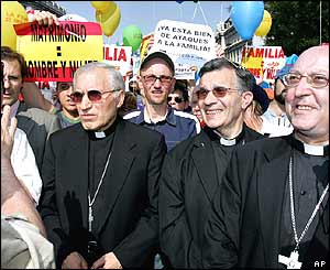 Priests at head of anti-gay march