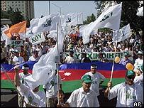 Protester in Baku