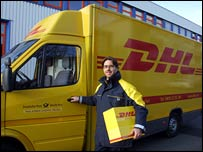 DHL delivery driver