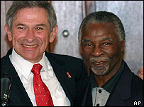 World Bank's Paul Wolfowitz and South African president Thabo Mbeki