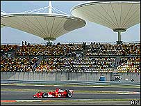 Michael Schumacher at Shanghai's first Grand Prix, September 2004