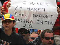 Angry US Grand Prix fans make their feelings clear