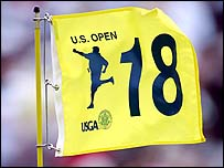 The 18th flag at Pinehurst