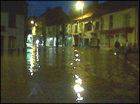 Floods in Helmsley, North Yorkshire