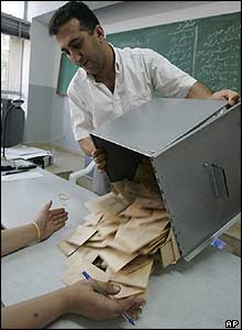 Ballots are counted in Tripoli, Lebanon
