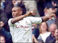 Spurs striker Jermain Defoe