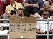 A fan at Indianapolis blames FIA president Max Mosley's rules for the farce at the US Grand Prix