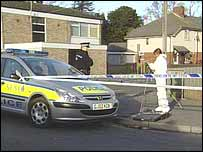 Police at the scene of the incident in Canterbury