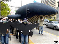 South Korean whaling protest (AFP)