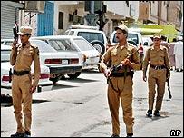 Saudi police during anti-Jihadist operation