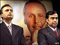 The Ambani brothers