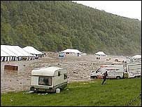 Campsite flooding