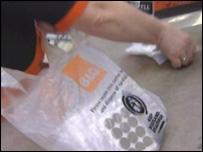 B&Q plastic bag