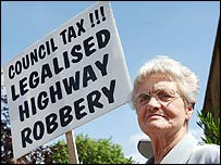 Council tax protester Sylvia Hardy