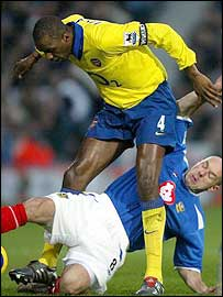 Steve Stone's tackle on Patrick Vieira sums up Popey's effort