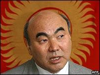 File photograph of Former Kyrgyz president Askar Akayev