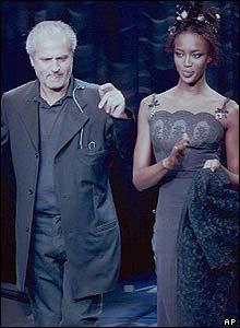 Versace and Naomi Campbell